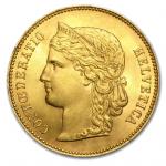 Swiss Gold 20 Francs Coins